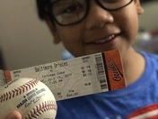 Home Run Ball By A Filipino American player caught by a Filipino American Boy