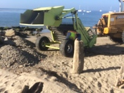 Capitola Beach Rock removal