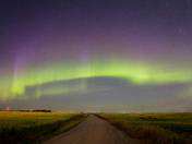 Northern Lights In Moosomin SK