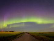 Northern Lights In Moosomin SK