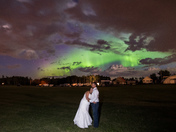 Bride and Groom under the Northern Lights