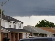 Funnel cloud in New Orleans East