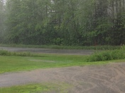 Heavy down pour here in Farmington.