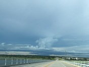 Bridge at fort pile traveling east 6:45pm