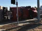 Rollover truck accident