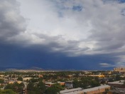 AREIAL VIEW OF STORMS MOVING INTO METRO AREA