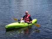 Mark and Rylee at Beaver Lake.