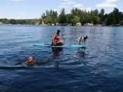 Christine, Rylee and Vera at Beaver Lake.