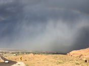 Today's Wind / rain storm Over Belen, off I 40.  Today at 6:30 pm.