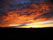"Sunrise in the ""Dzilth-na-o-dith-hle"" area."