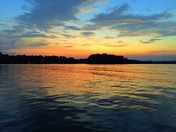 Sunset on Lake Keowee