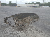 Maysville parking lot by burger king