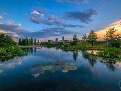 Sunset from the Greater Des Moines Botanical Center last week