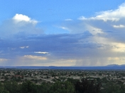 Monsoon over Manzano Mountains