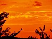 Tangerine sunset & clouds, 7-23-2017
