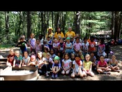 Girls Scouts at Camp Cedar Hill in Waltham