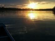 Sunset by canoe on Swain Lake
