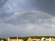 Rainbow behind the storm