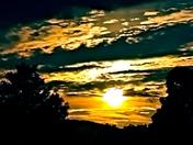 Sun set in Gorham new Hampshire