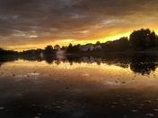Sunset in maineville