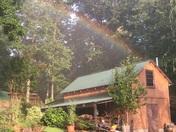 Backyard rainbow