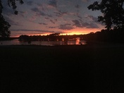 Summer sunset over Monte Ne