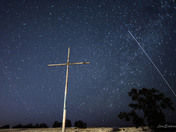ISS flying over Northern California