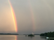 Double Rainbow over Lake Champlain