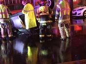 Car flipped over in Elizabethtown last night
