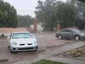 Crazy rain in Los Lunas