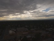 DRONE AREIAL VIEW OF A STORMY AFTERNOON & A AWSOME SUNSET