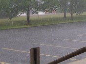 Heavy rain and hail along Route 2 in Concord