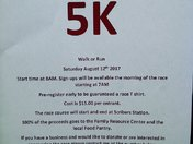 1st Annual 5K Run/Walk
