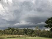 Storm rolling into Gravette