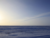 Winter arctic landscape with snow