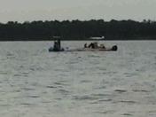 Overturned boat or plane