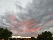 Evening Sky!  Pretty in Pink!