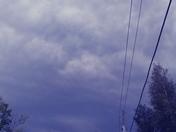 Dark clouds in Mooers N.Y.