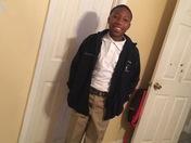 Jalen's 1st day of 7th grade.... St. Bernard Middle