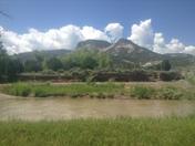 The view from Von Bock Farm in Abiquiú .....