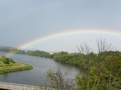 Rainbow over Milwaukee river