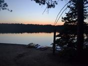 Sunset over Pog Lake