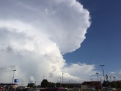 Supercell over Mustang Walmart