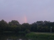 Rainbow while fishing