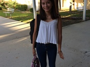 Ashley 1st day of school DSOA