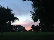 Sunset in Uniontown, Pa
