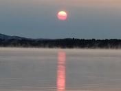 Sunrise over Ossipee Lake