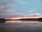 Night Falls Over Lake Kioshkokwi