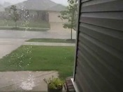 Quarter size hail near stone ridge golf course in fatetteville
