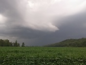 Storm front approaching Lexington,mo bluff